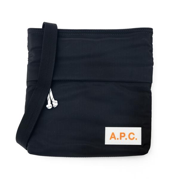 Borsa a spalla nera con patch logo                                                                                                                    A.p.c. H61344 retro