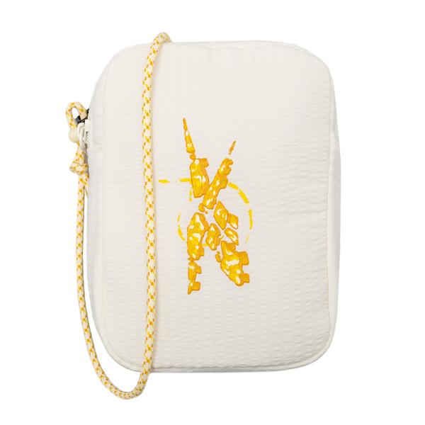 Borsa mini bianca con stampa gialla                                                                                                                   Reebok HB0493 retro