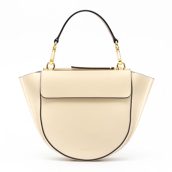 Handbag in cream-colored leather                                                                                                                      Wandler HORTENSIABAGMINI back