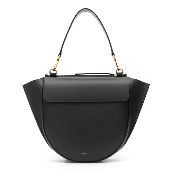 Medium handbag in black                                                                                                                               Wandler HORTENSIA BAG MEDIUM back