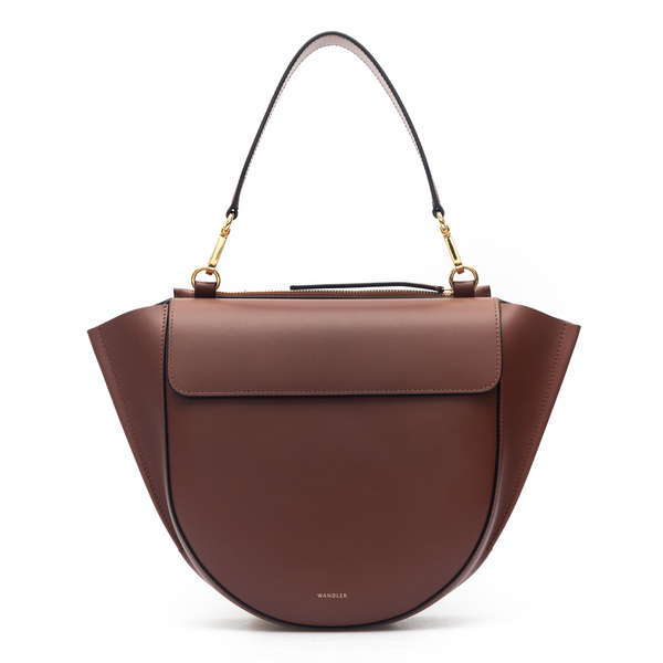 Medium handbag in brown                                                                                                                               Wandler HORTENSIA BAG MEDIUM back