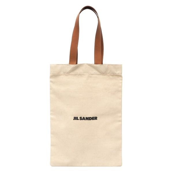 Cream tote bag with logo                                                                                                                              Jil Sander JSMS852457 back