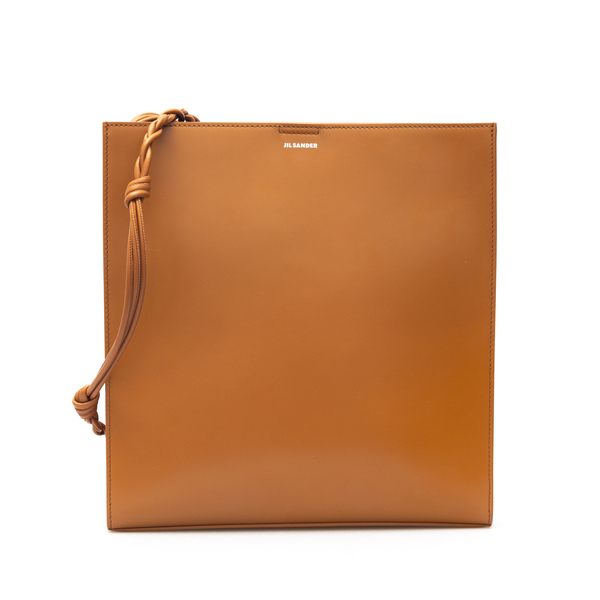 Brown shoulder bag with small logo print                                                                                                              Jil Sander JSPT853172 back