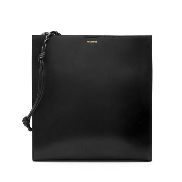 Black shoulder bag with small logo print                                                                                                              Jil Sander JSPT853172 back