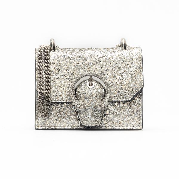 Borsa a tracolla in glitter argento                                                                                                                   Jimmy Choo MINIPARIS retro