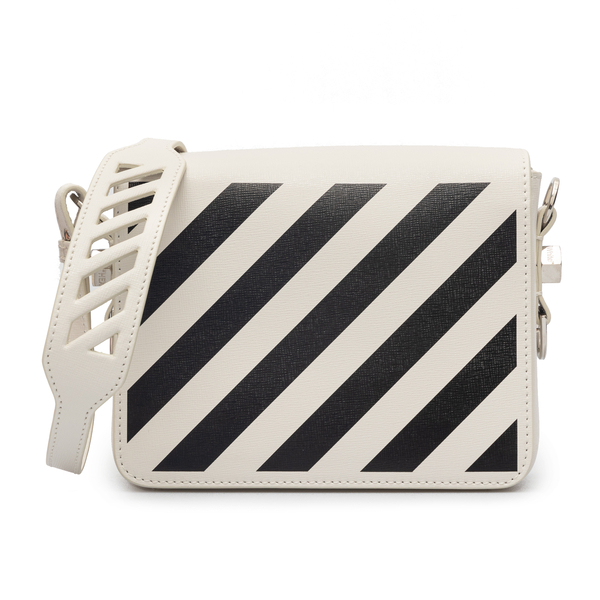 White striped shoulder bag                                                                                                                            Off White OWNN018F21LEA002 back