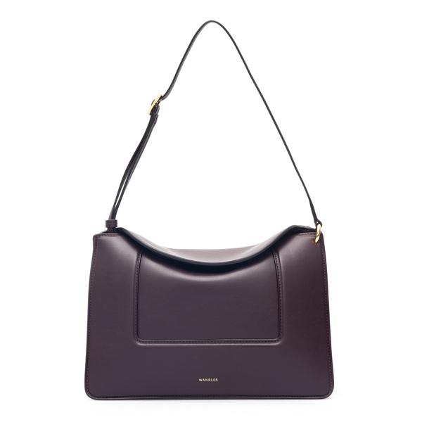 Purple gusseted shoulder bag                                                                                                                          Wandler PENELOPE BAG back