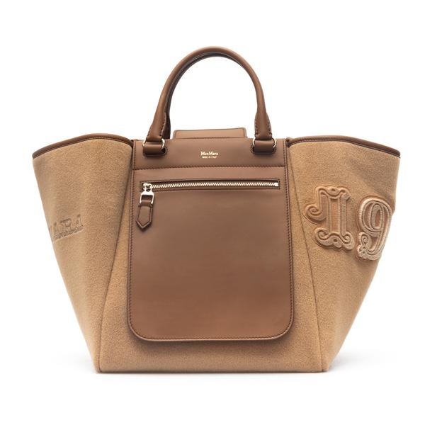 Camel-colored handbag with pocket                                                                                                                     Max Mara REVERBV back