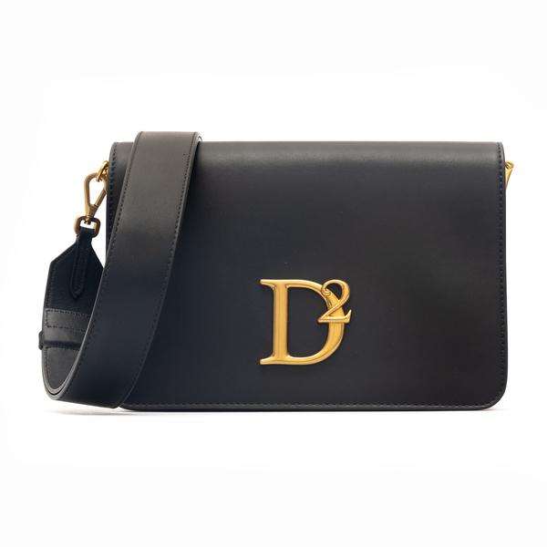 Black shoulder bag with golden logo                                                                                                                   Dsquared2 SDW0045 back