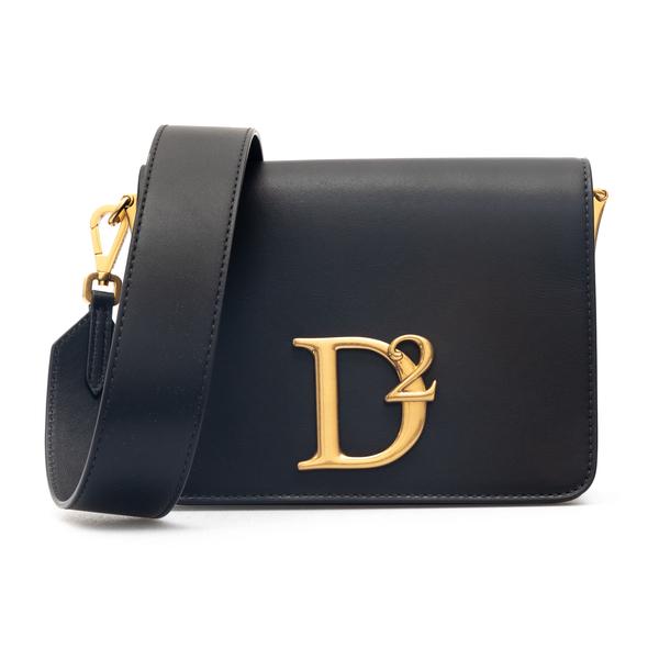 Black shoulder bag with gold logo                                                                                                                     Dsquared2 SDW0048 back