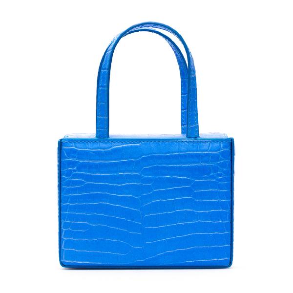 Light blue crocodile effect mini bag                                                                                                                  Amina Muaddi SUPERAMINIGIORGIA back