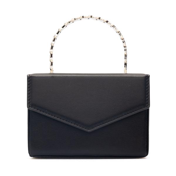 Black mini bag with rhinestone handle                                                                                                                 Amina Muaddi SUPERAMINIPERNILLE back