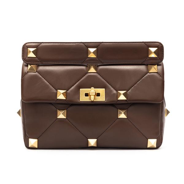 Brown quilted shoulder bag with studs                                                                                                                 Valentino Garavani                                 VW0B0I60 back