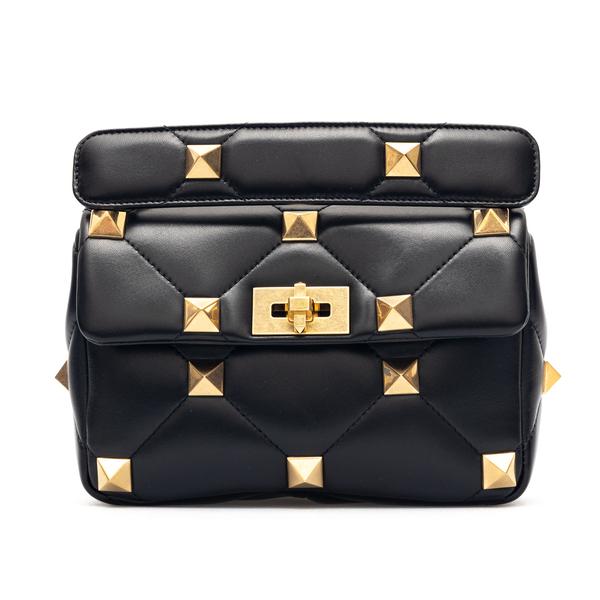 Black quilted shoulder bag with studs                                                                                                                 Valentino Garavani VW0B0I82 back