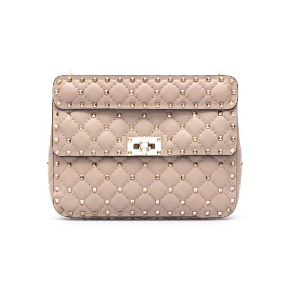 Pink shoulder bag with studs                                                                                                                          Valentino garavani VW2B0122 front