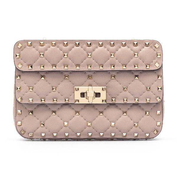 Pink handbag with studs                                                                                                                               Valentino garavani VW2B0123 front