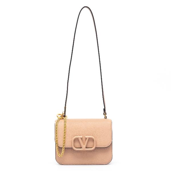Pink shoulder bag with V logo                                                                                                                         Valentino garavani VW2B0F01 front