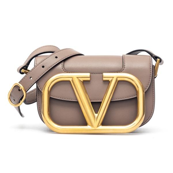 Borsa a tracolla marrone con logo oversize                                                                                                            Valentino garavani VW2B0G45 fronte