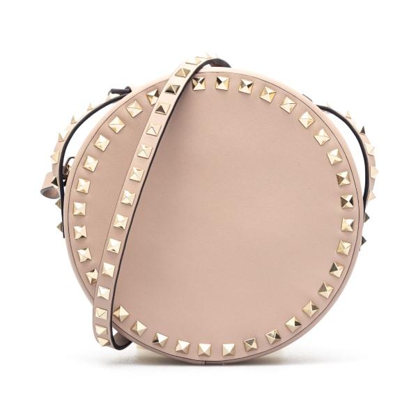 Borsa a tracolla rosa tonda con borchie                                                                                                               Valentino garavani VW2B0I28 fronte