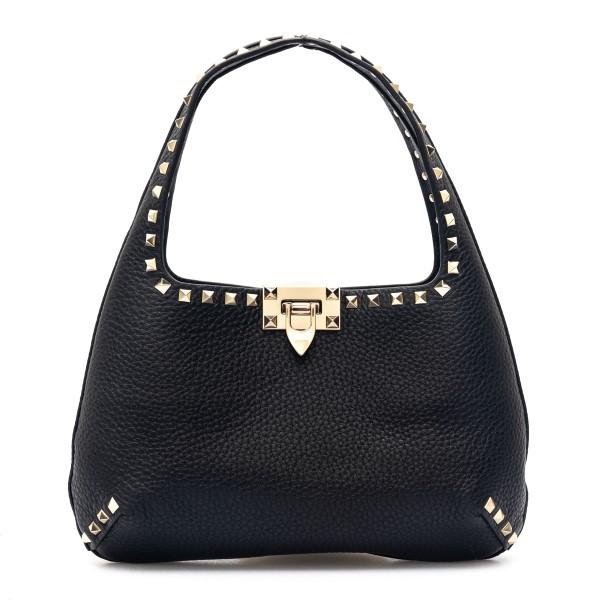 Black shoulder bag with studs                                                                                                                         Valentino garavani VW2B0I25 front