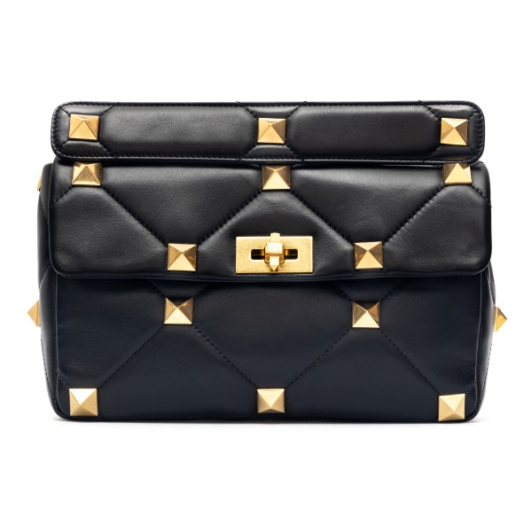 Black shoulder bag with maxi studs                                                                                                                    Valentino garavani VW2B0I60 front