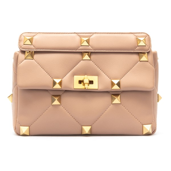 Pink shoulder bag with maxi studs                                                                                                                     Valentino garavani VW2B0I60 front