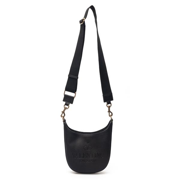Black shoulder bag with embossed logo                                                                                                                 Valentino Garavani VY0B0A78 back