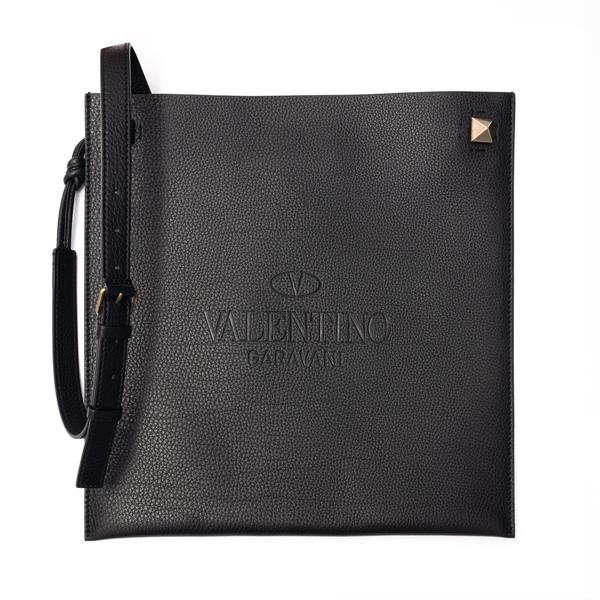 Black shoulder bag with in flat design                                                                                                                Valentino Garavani VY0B0A81 back