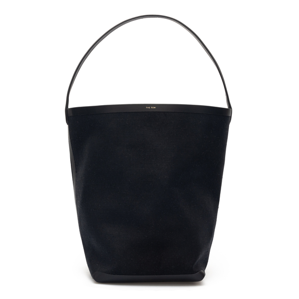 Black bucket bag with logo                                                                                                                            The Row W1273 back