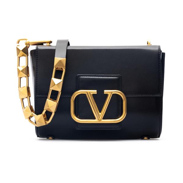 Black shoulder bag with V logo                                                                                                                        Valentino Garavani WW0B0J96 back