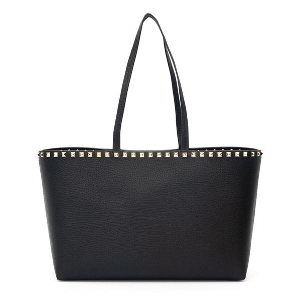 Black tote bag with gold studs                                                                                                                        Valentino Garavani WW2B0B71 back