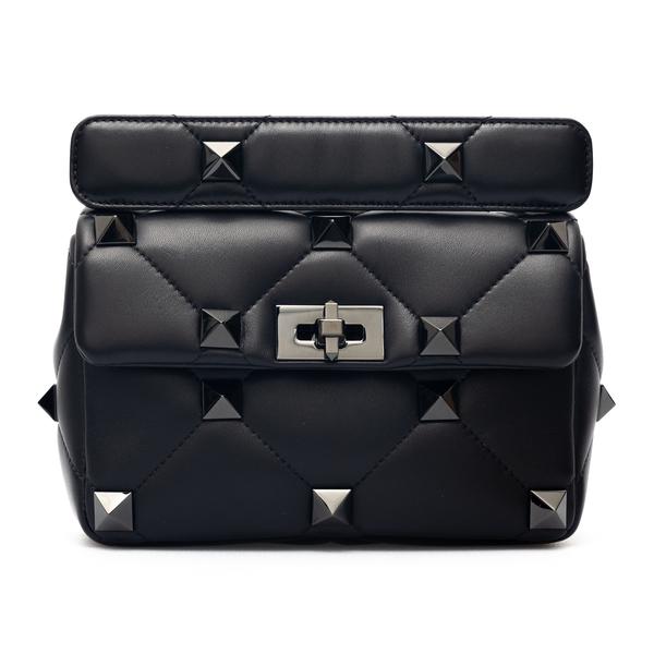 Borsa a tracolla nera con borchie                                                                                                                     Valentino Garavani WW2B0I82 retro