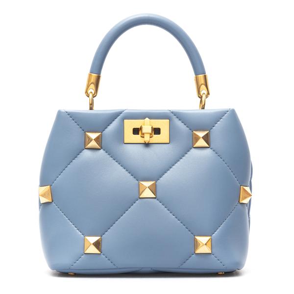 Light blue handbag with gold studs                                                                                                                    Valentino Garavani WW2B0I97 back