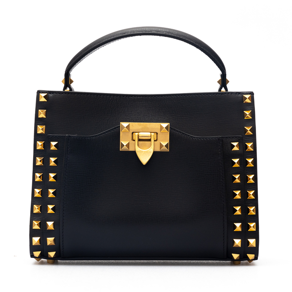 Black shoulder bag with studs and brand name                                                                                                          Valentino Garavani WW2B0J77 back