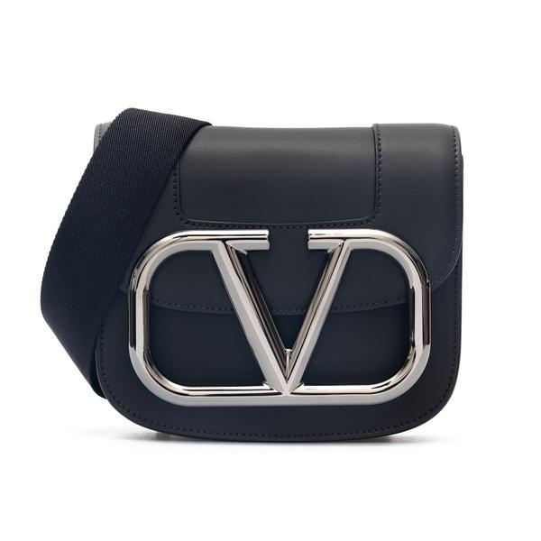 Borsa a tracolla nera con logo oversize                                                                                                               Valentino Garavani WY2B0A88 retro