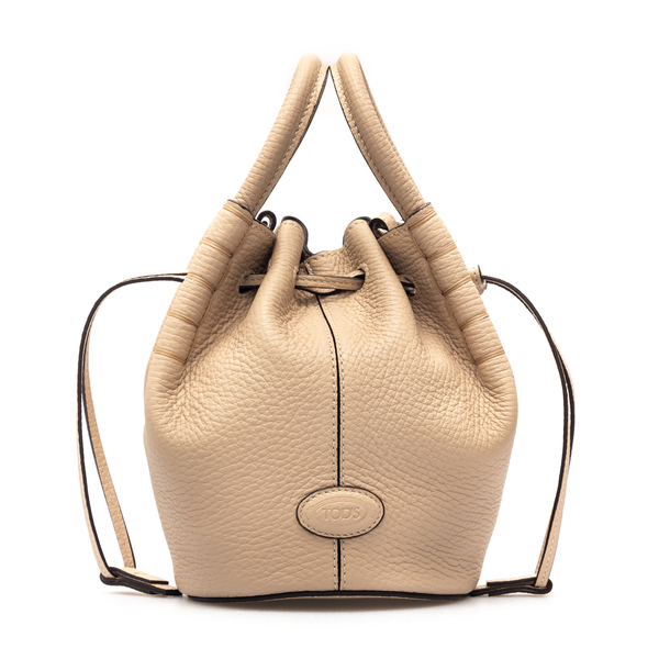 Borsa a mano beige con coulisse                                                                                                                       Tods XAWA0Z60301 retro