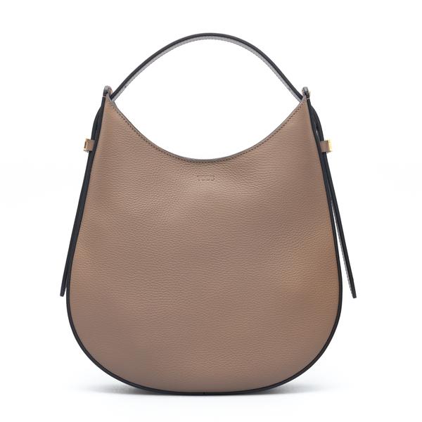 Brown shoulder bag in curved design                                                                                                                   Tods XBWA0RS0200 back