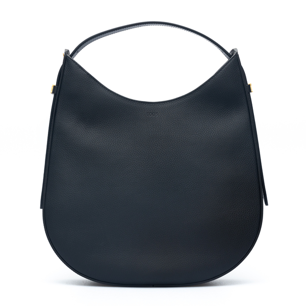 Black tote bag with gold logo                                                                                                                         Tods XBWA0RS0300 back