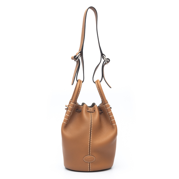 Brown shoulder bag with pouch                                                                                                                         Tods XBWAOZK0100 back