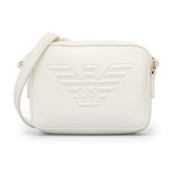 White shoulder bag with embossed logo                                                                                                                 Emporio Armani Y3B160 back