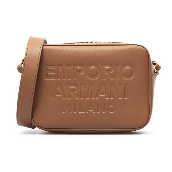 Borsa a tracolla marrone con logo goffrato                                                                                                            Emporio Armani Y3B162 retro