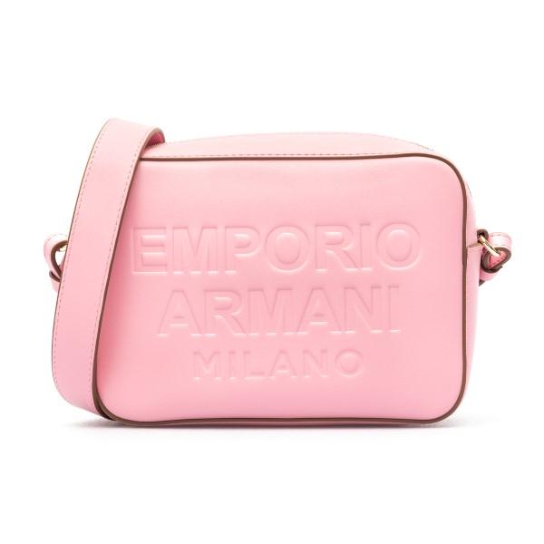Borsa a tracolla rosa con dettagli marroni                                                                                                            Emporio Armani Y3B162 retro