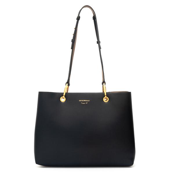 Black shoulder bag with adjustable handles                                                                                                            Emporio Armani Y3B171 back