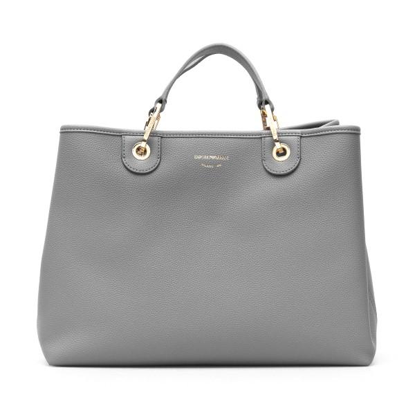Grey tote bag with band shoulder strap                                                                                                                Emporio Armani Y3D165 back