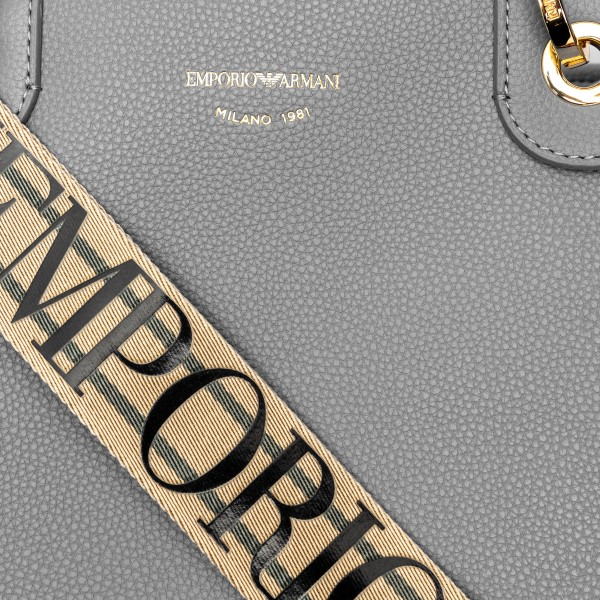 Grey tote bag with band shoulder strap                                                                                                                 EMPORIO ARMANI