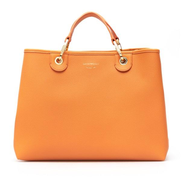 Orange tote bag with logoed shoulder strap                                                                                                            Emporio Armani Y3D165 back