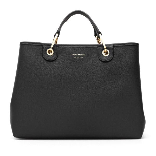 Black tote bag with band shoulder strap                                                                                                               Emporio Armani Y3D165 back