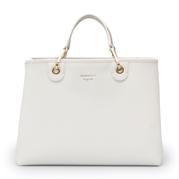 White tote bag with band shoulder strap                                                                                                               Emporio Armani Y3D165 back