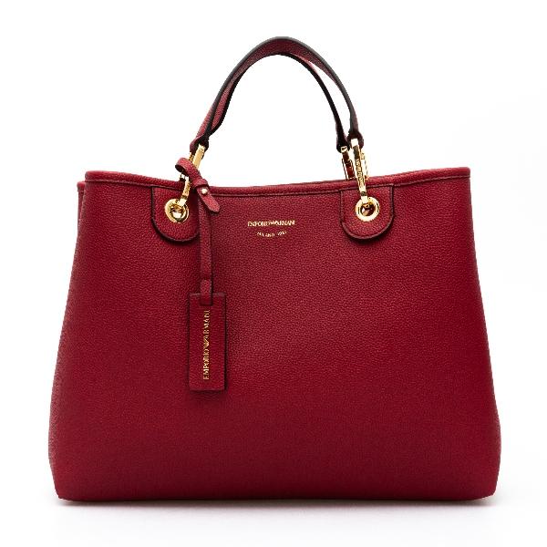 Handbag in red with logo                                                                                                                              Emporio Armani Y3D165 back