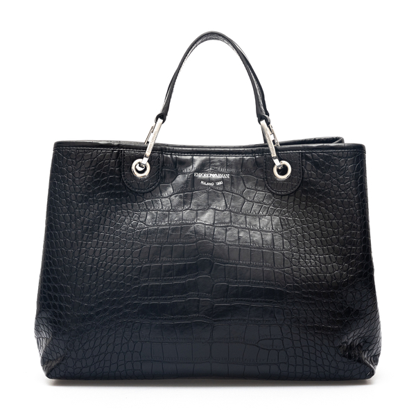 Handbag with crocodile print                                                                                                                          Emporio Armani Y3D165 back